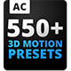 3D Motion Presets For Animation Composer