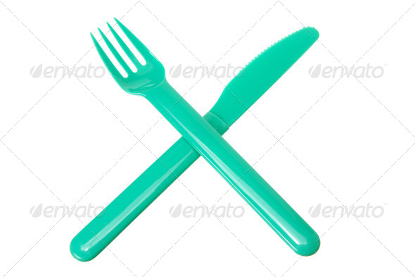 Plastic Fork and Knife - Stock Photo - Images