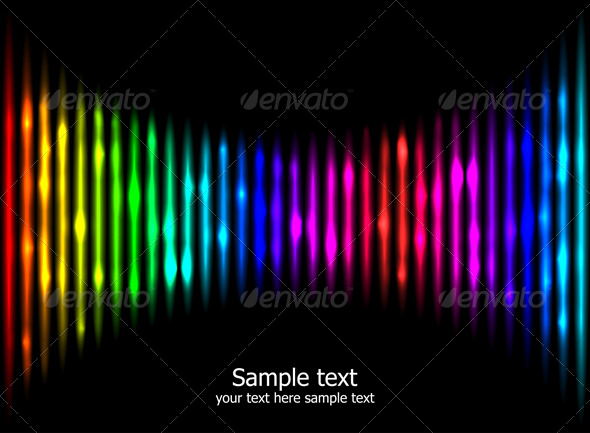 Abstract rainbow colours background eps10 - Backgrounds Decorative