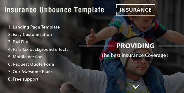 Insurance Unbounce Landing Page  - Unbounce Landing Pages Marketing