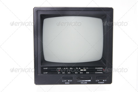 Portable TV - Stock Photo - Images