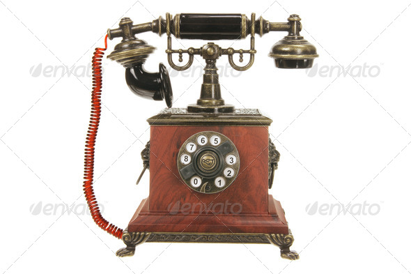 Antique Phone - Stock Photo - Images