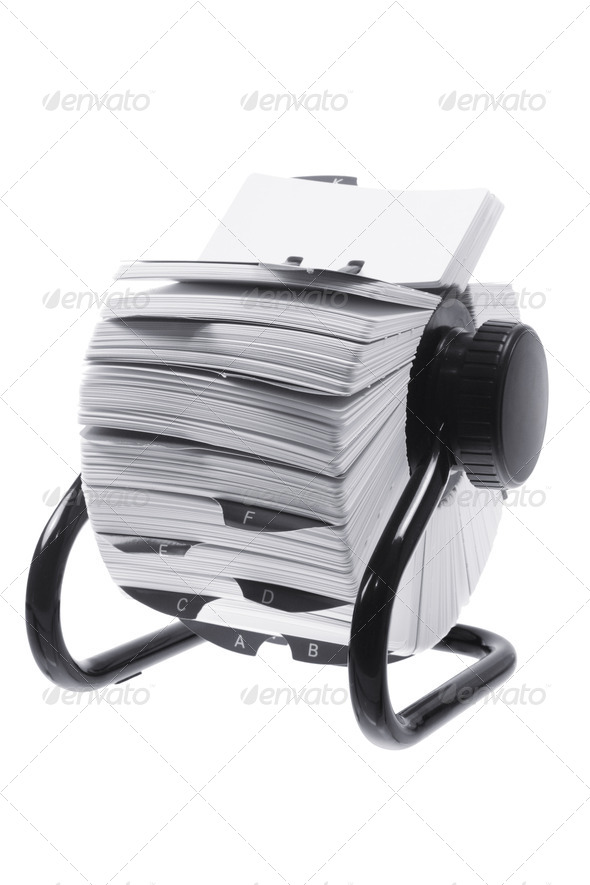 Rotary Card Index - Stock Photo - Images