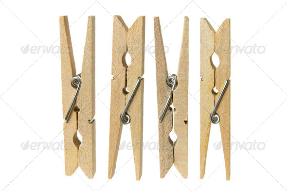 Clothes Pegs - Stock Photo - Images