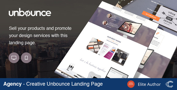 Agency Creative Landing Page - Unbounce Landing Pages Marketing