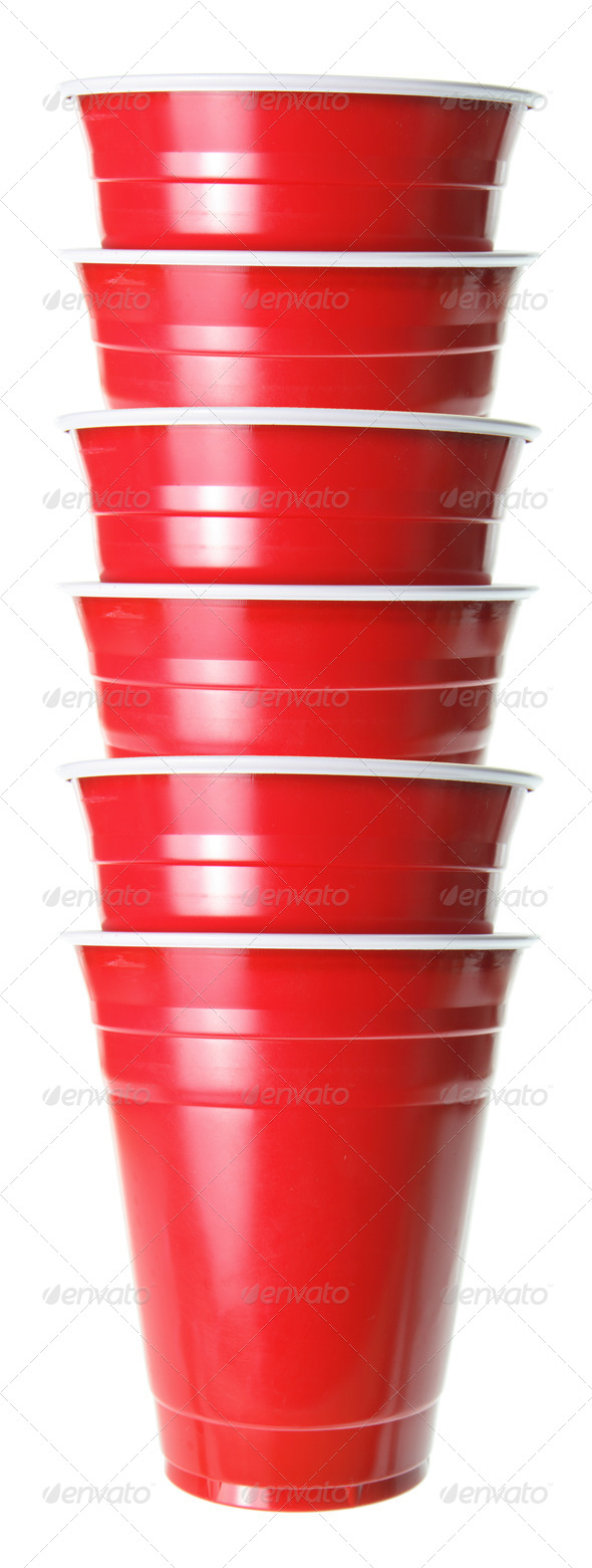 Stack of Plastic Cups - Stock Photo - Images