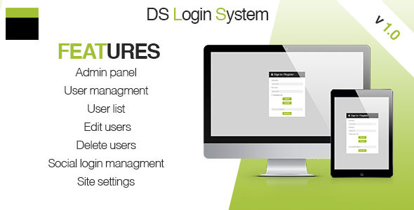 DS Login System - CodeCanyon Item for Sale