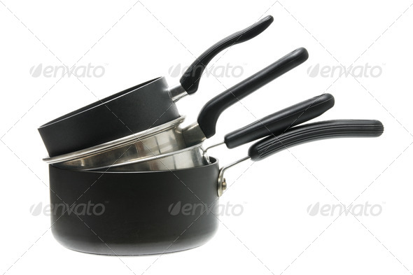 Stack of Cooking Pots - Stock Photo - Images