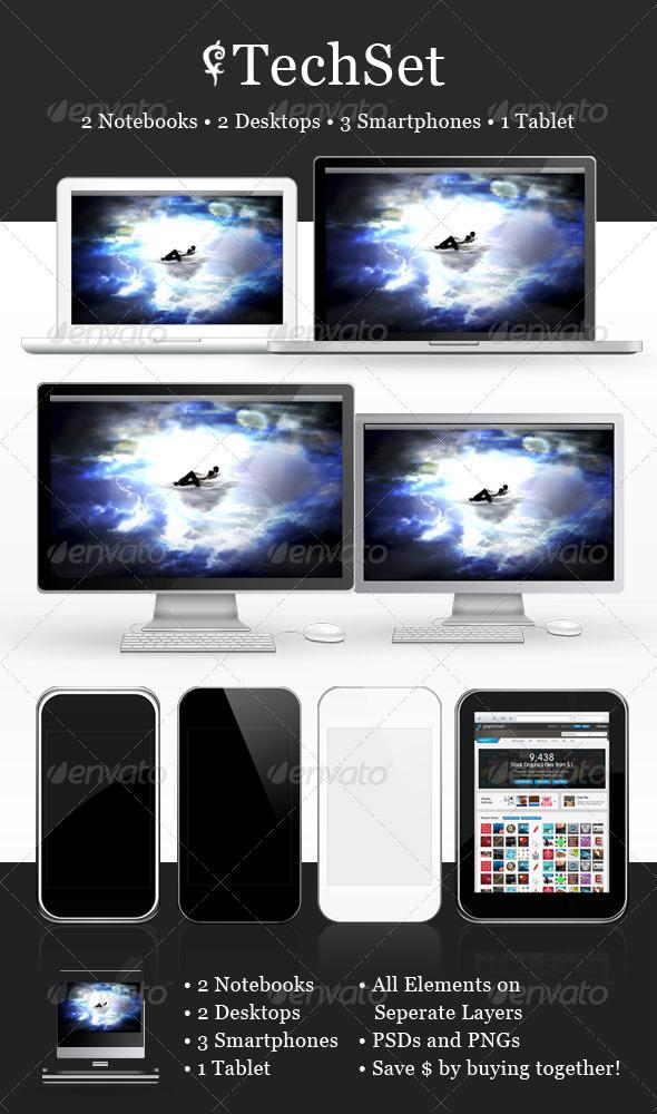 Tech Set - Multiple Displays