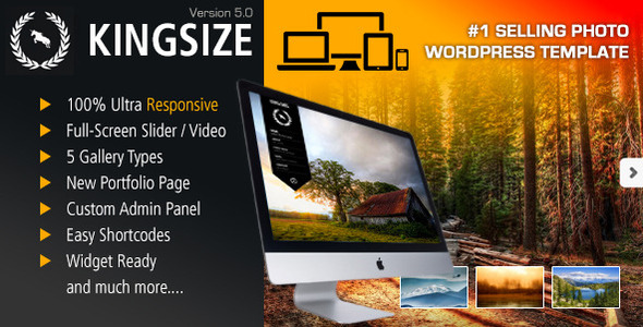 King Size – Fullscreen Background WordPress Theme