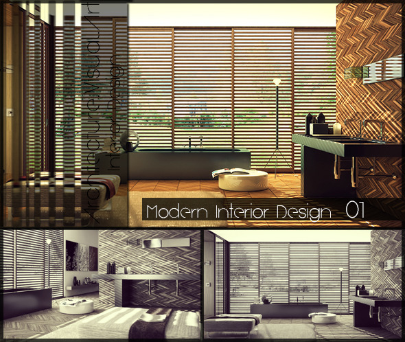 Bathroom Interior Design - 3DOcean Item for Sale