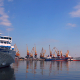 A White Passenger Ship Docked in the Port - VideoHive Item for Sale