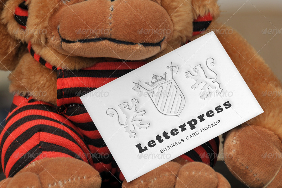 Letterpress Business Card Mockup by BlueMonkeyLab   GraphicRiver