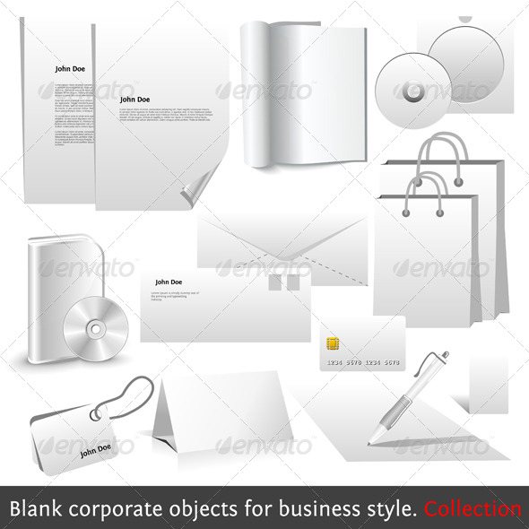 Blank corporate objects for business style - Concepts Business