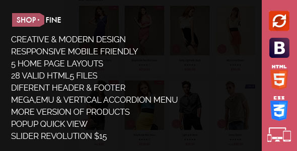 Shopfine – Responsive E-Commerce Template