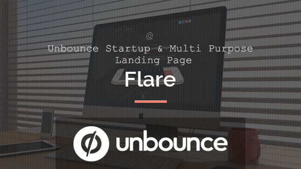 Flare – Unbounce Startup Landing Page
