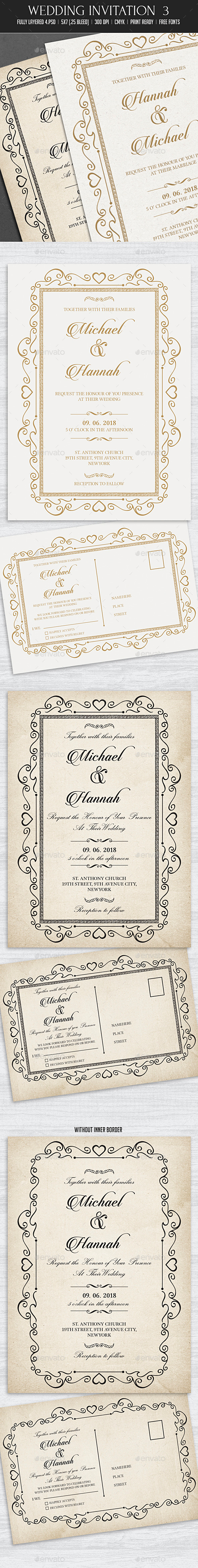 Wedding Invitation 3 - Weddings Cards & Invites