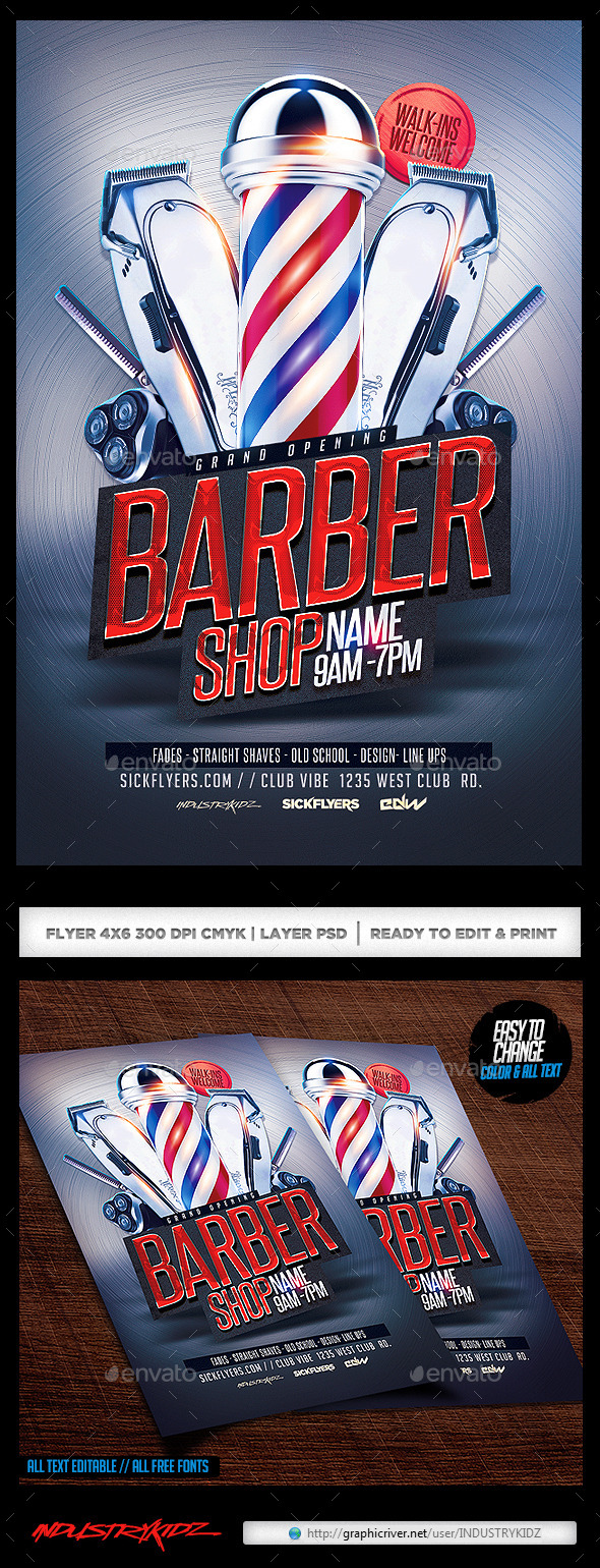 Barbershop flyer by industrykidz graphicriver barbershop flyer colourmoves