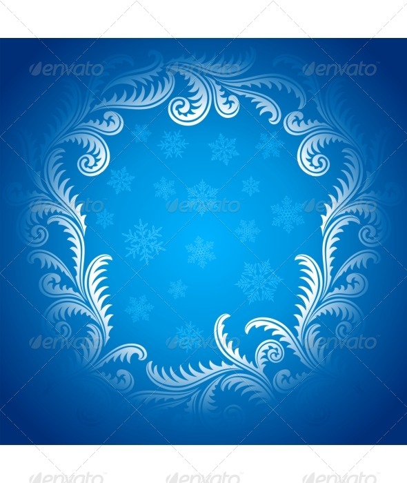 Frost Pattern frame - Seasons/Holidays Conceptual