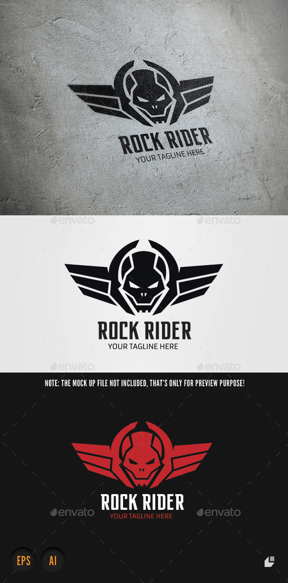 Rock Rider - Crests Logo Templates