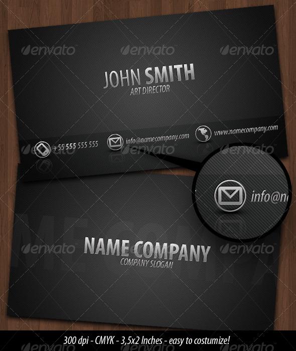 Business Card Dark Metal - Creative Business Cards