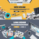 Flat Design Concepts for Graphic and Web Design - GraphicRiver Item for Sale