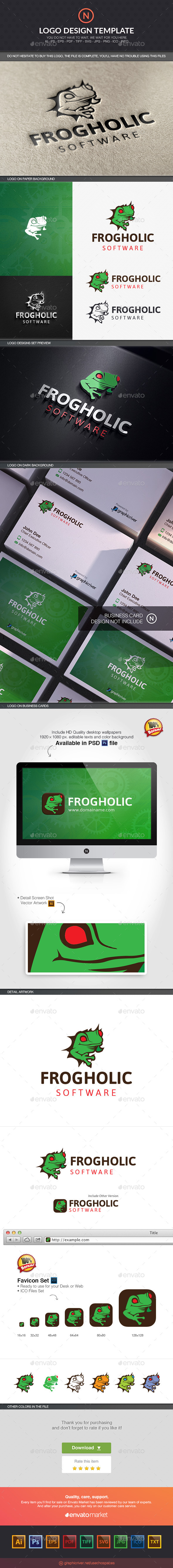 Frogholic - Animals Logo Templates