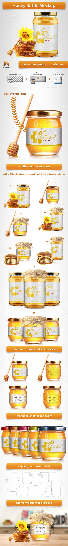 Honey Bottle Mockup - Miscellaneous Product Mock-Ups