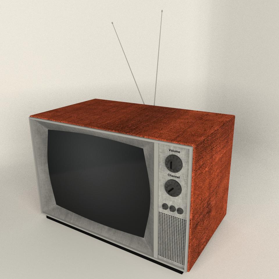 Vintage Tv By 12jheller 3docean