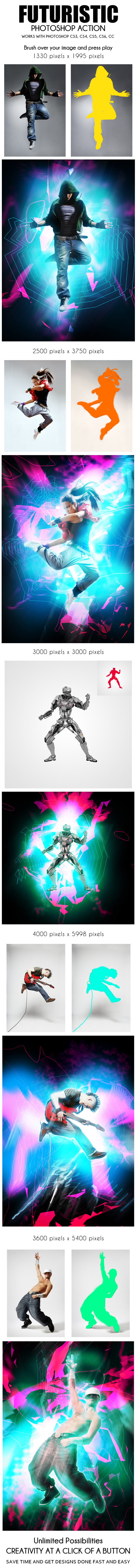 Futuristic Photoshop Action - Photo Effects Actions