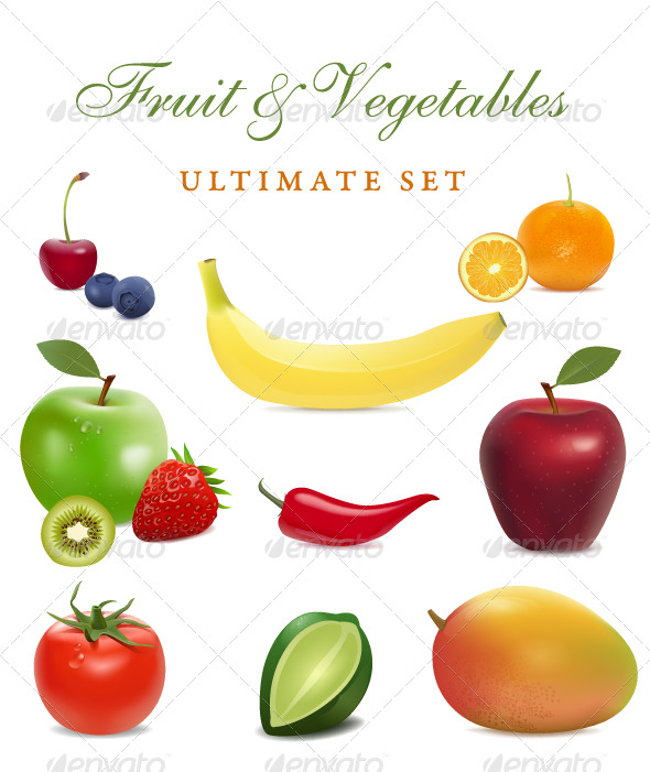 fruit and vegetables - Food Objects