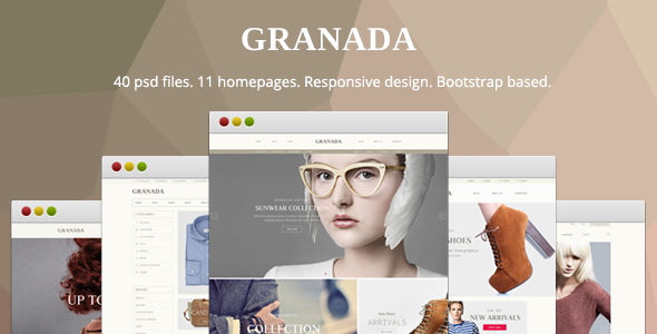 Granada - Responsive eCommerce PSD Template - Retail PSD Templates