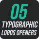 5 Typographic Logos Openers - VideoHive Item for Sale