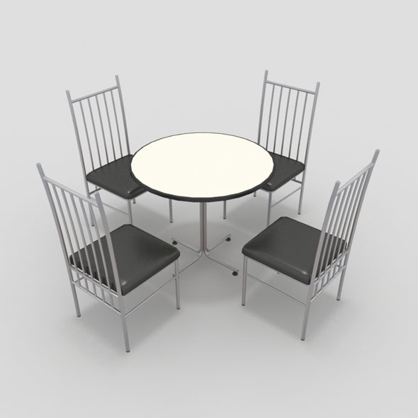 Table with Chairs-2 - 3DOcean Item for Sale