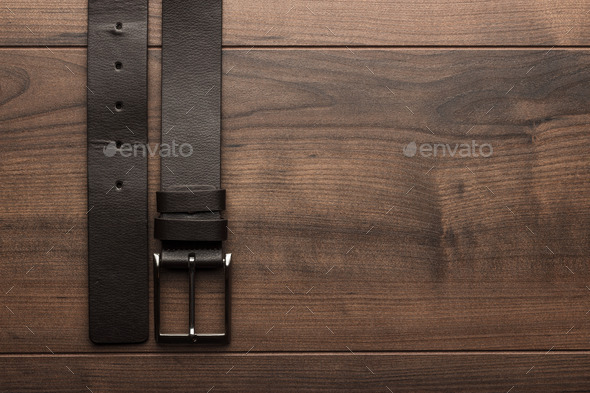 Brown Leather Belt For Men - Stock Photo - Images