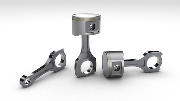 High-poly Piston + Rod - 3DOcean Item for Sale