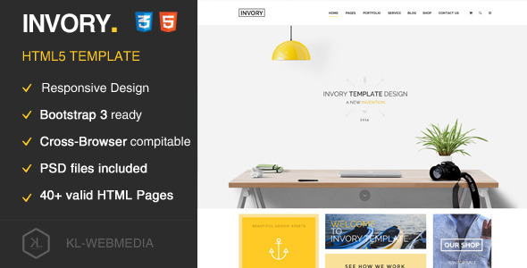 Invory – Multi-Purpose HTML5 Template