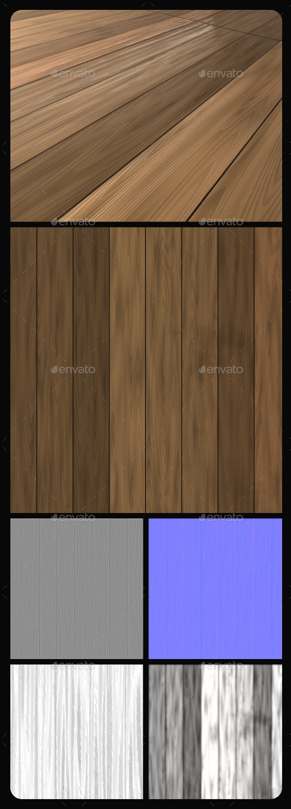 Wood Planks Tile Texture 2 - 3DOcean Item for Sale