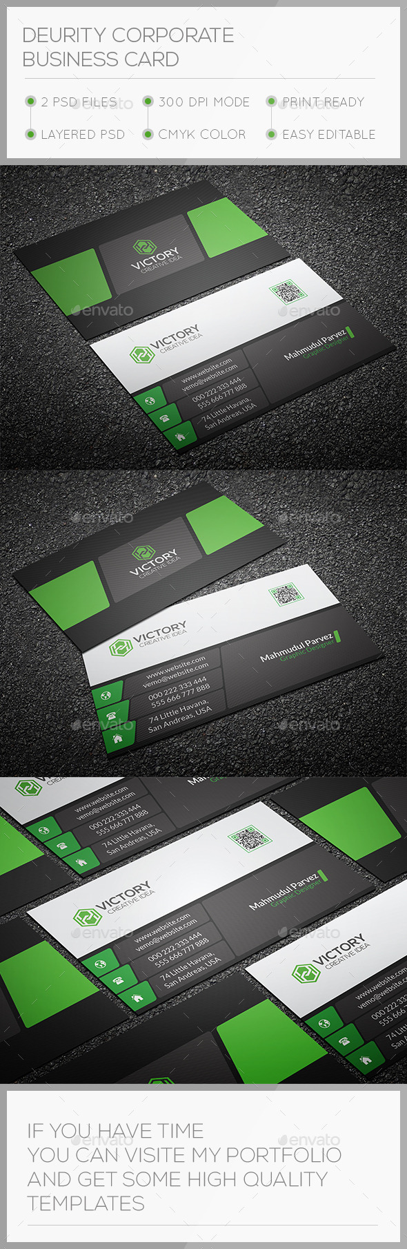 Deurity Corporate Business Card - Corporate Business Cards