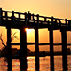 U Bein Wooden Bridge at Sunset 3 - VideoHive Item for Sale