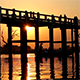 U Bein Wooden Bridge at Sunset 4 - VideoHive Item for Sale