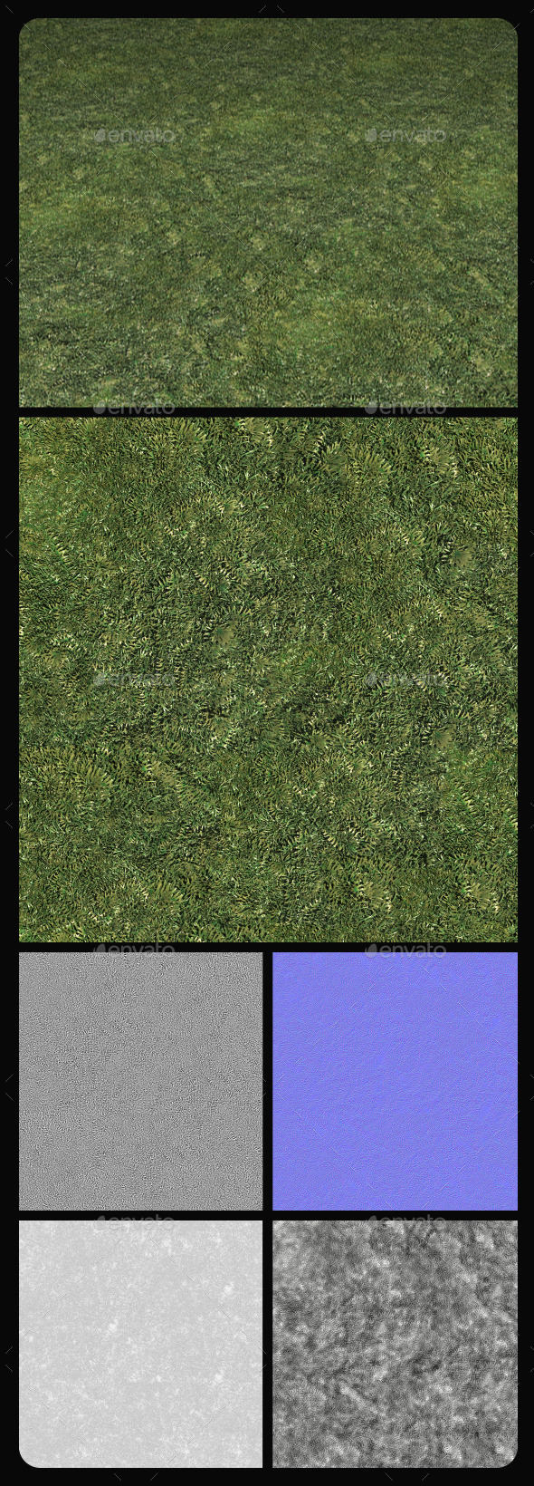 Grass Hi-Res Tile Texture - 3DOcean Item for Sale