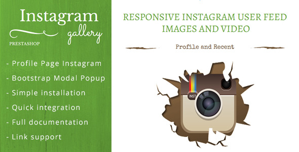 Responsive Instagram Images and Video for Prestashop - CodeCanyon Item for Sale