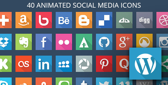 40 Animated SVG Social Media Icons for WordPress - CodeCanyon Item for Sale