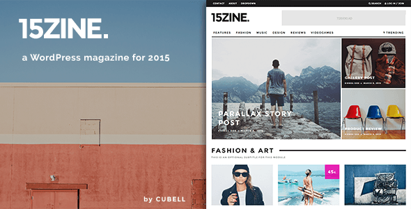 15Zine – HD Magazine / Newspaper WordPress Theme