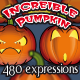 Pumpkin Cartoon of 480 Facial Expressions  - GraphicRiver Item for Sale