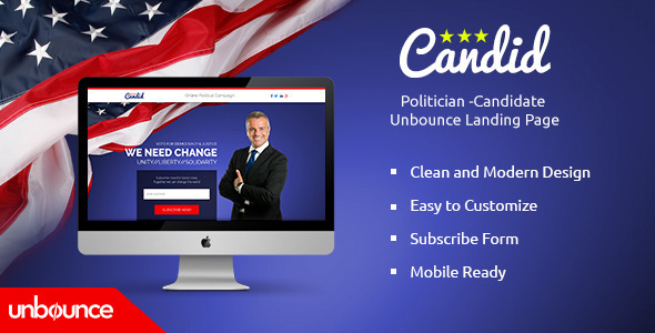 Candid - Unbounce Responsive Nonprofit Landing Page - Unbounce Landing Pages Marketing