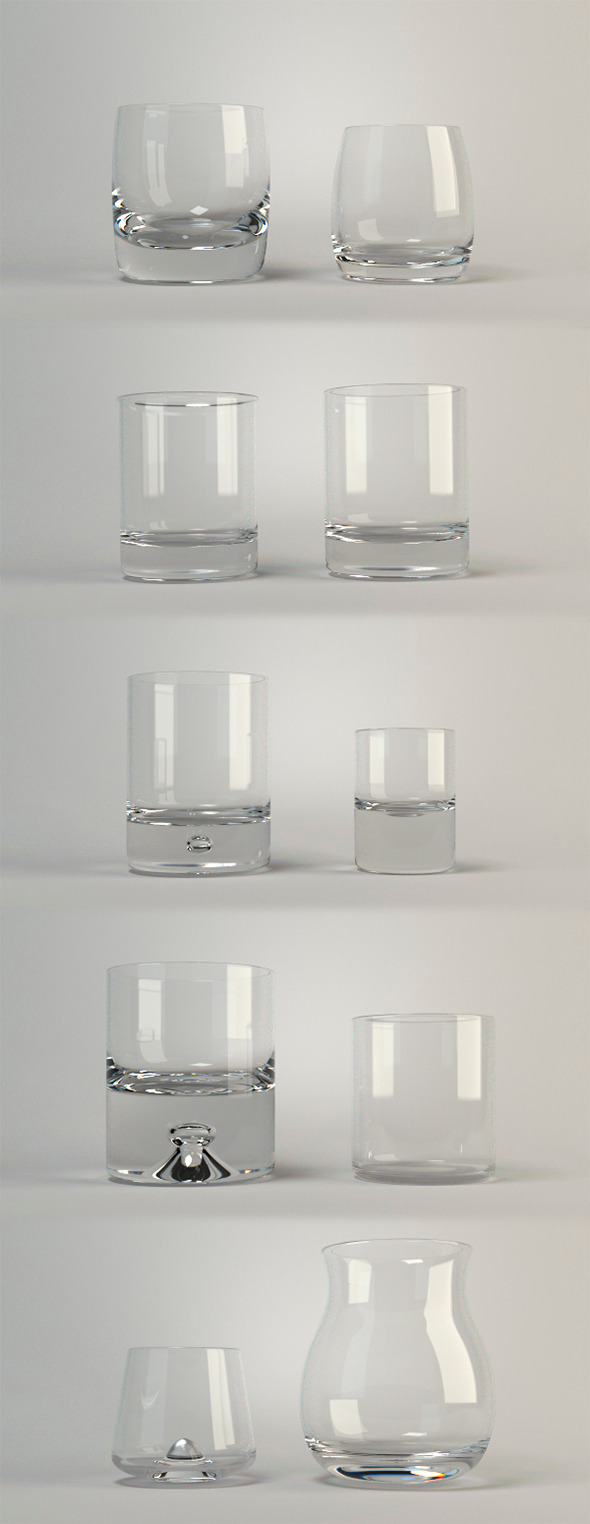 Whiskey glasses V1 - 3DOcean Item for Sale