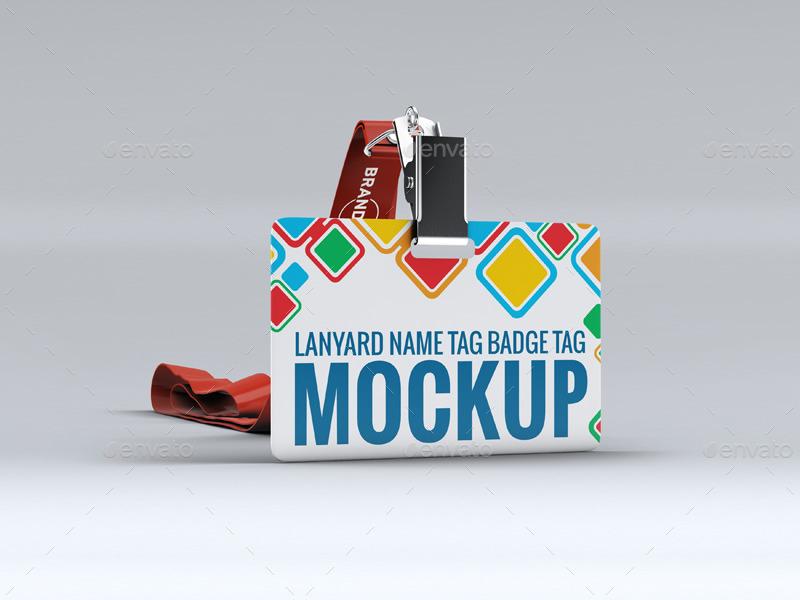 Lanyard Name Tag Badge Mockup By L5design Graphicriver