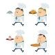 Cooks with Tray Set - GraphicRiver Item for Sale